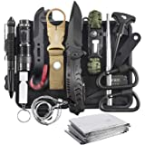 Survival Kit, 16 in 1 Professional Survival Gear Tool Emergency Tactical First Aid Equipment Supplies Kits Gifts Idear for Men Him Women Families Hiking Camping Fishing Adventures