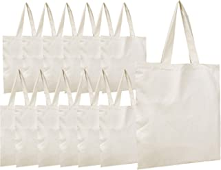 d27ad26bb1d7 BagzDepot Canvas Tote Bags Wholesale - 12 Pack - Plain Cotton Tote Bags in  Bulk