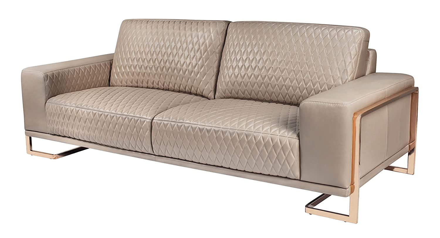 Amazing Amazon Com Michael Amini Gianna Leather Standard Sofa Pabps2019 Chair Design Images Pabps2019Com
