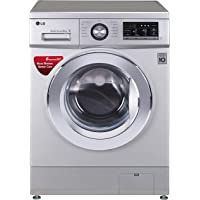 LG 8.0 kg Inverter Fully-Automatic Front Loading Washing Machine (FH2G6TDNL42, Silver, Inbuilt Heater)