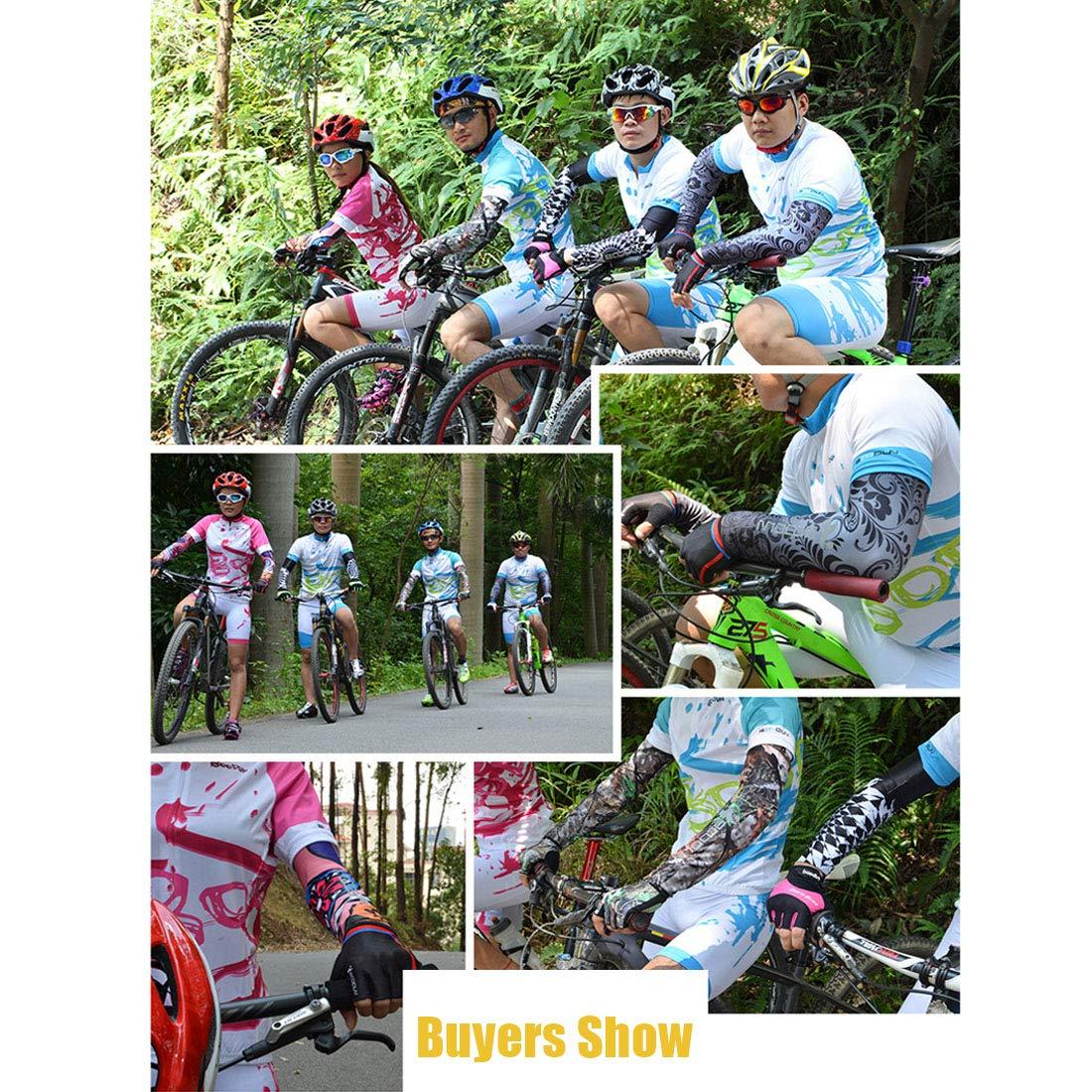Pinji1 Manche de Bras Homme Femme Manchette Bras Anti-UV Protection Manchon Bras Sport Running V/élo Cyclisme Course /à Pied Basketball