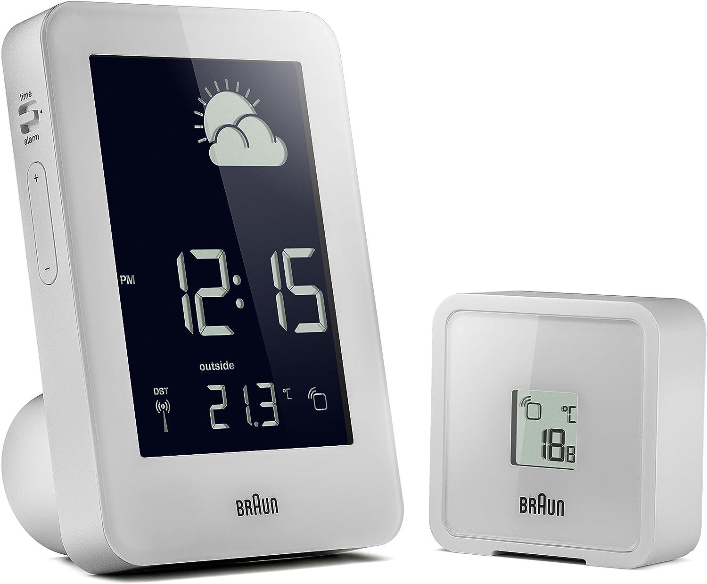 Braun BNC013WH-RC Temperature//Humidity Quartz Alarm Clock