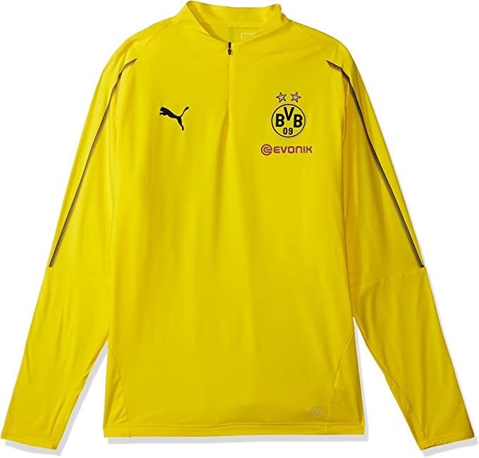 PUMA Childrens Bvb 1//4 Training Top With Sponsor Logo T-Shirt