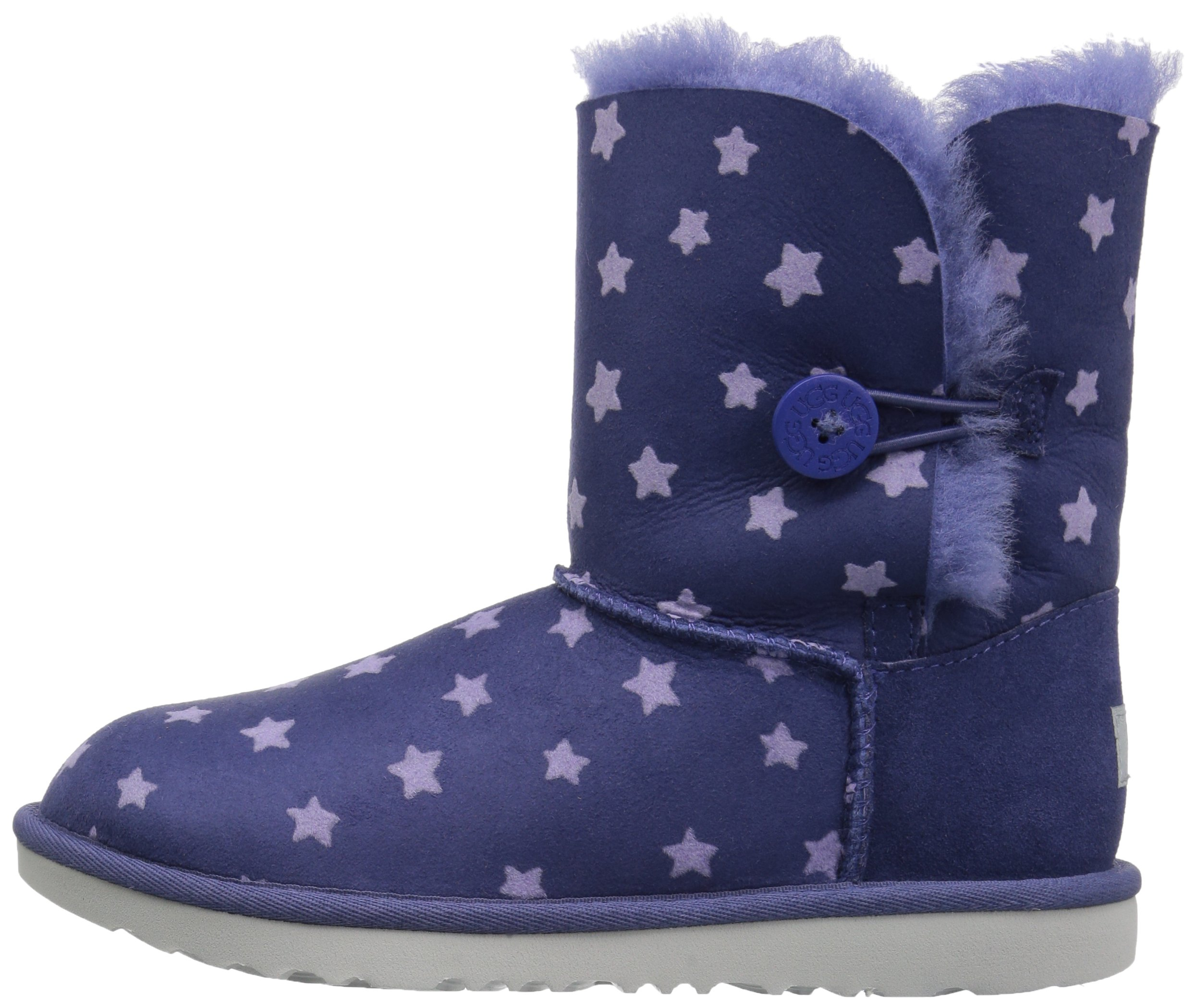 UGG Girls K Bailey Button II Stars Pull-On Boot, Nocturn, 1 M US Little Kid by UGG (Image #5)