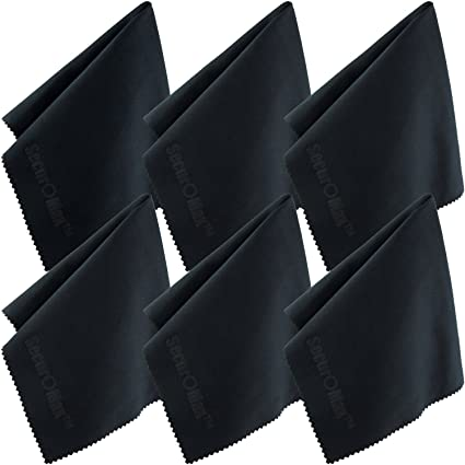 f40c61e4b8c86 Amazon.com  Microfiber Cleaning Cloth 12x12 Inch (6 Pack) for Lens ...
