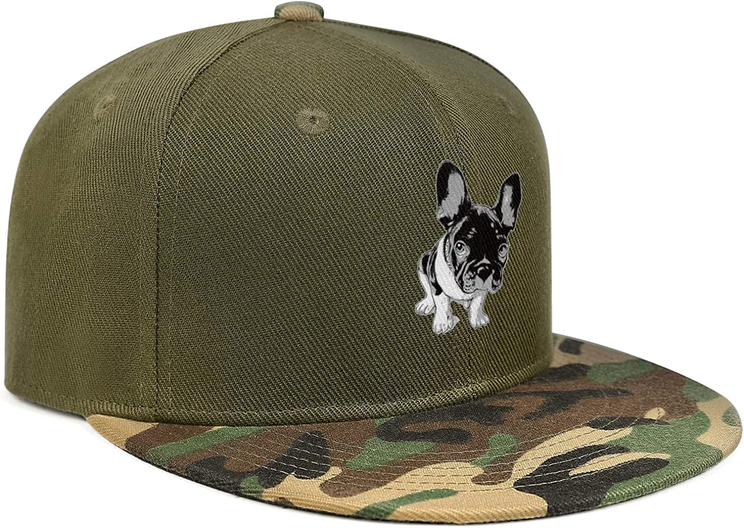 Cool French Bulldog Cute Animals Unisex Baseball Cap Cooling Fishing Hats Adjustable Trucker Caps Dad-Hat