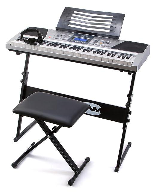 20 opinioni per RockJam RJ661 Piano Digitale 61 Tasti Superkit con Supporto, Sgabello e Cuffie