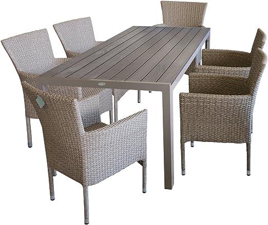 7 piezas. – Muebles de Jardín muebles de terraza y sillas para ...