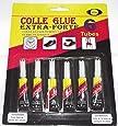 lot de 6 colle glue extra-forte caoutchouc cuir métal verre plastique bois 3 g