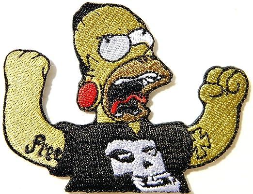 Simpson inadaptados Rock cómicos kruzroyal Logo craneo chaqueta ...