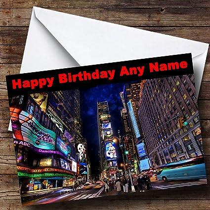 New York Times Square Tarjeta de felicitaciones de cumpleaños ...