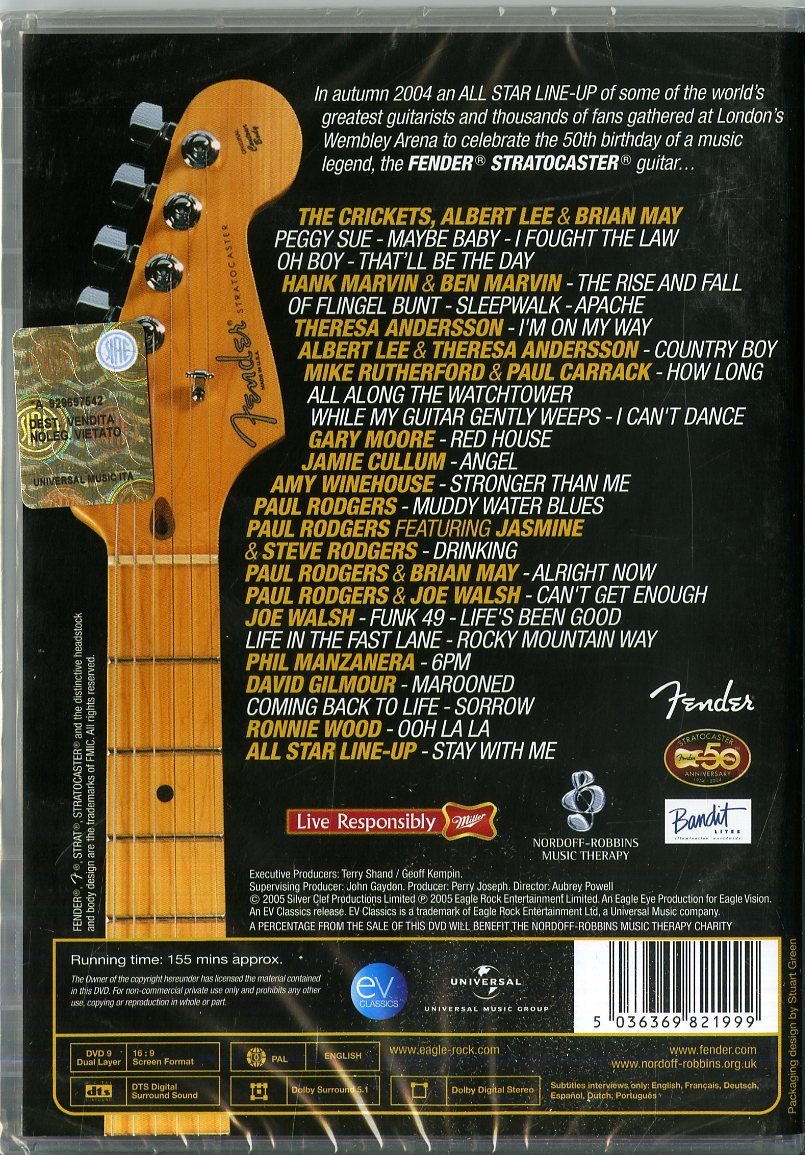 The Strat Pack: Live In Concert. Celebrating 50 Years Of The Fender Stratocaster DVD: Amazon.es: Varios, Varios: Cine y Series TV