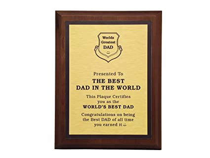 c4ce8233 Amazon.com : Aahs Engraving Worlds Greatest Plaques (Best Dad in The ...