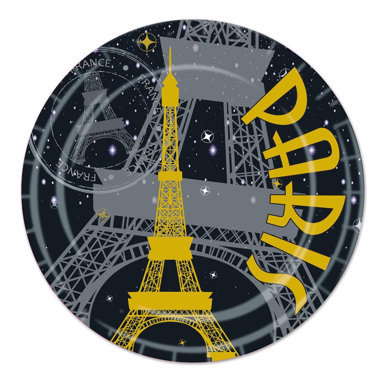 Beistle Paris Plates, 9-Inch Beistle Co 58044