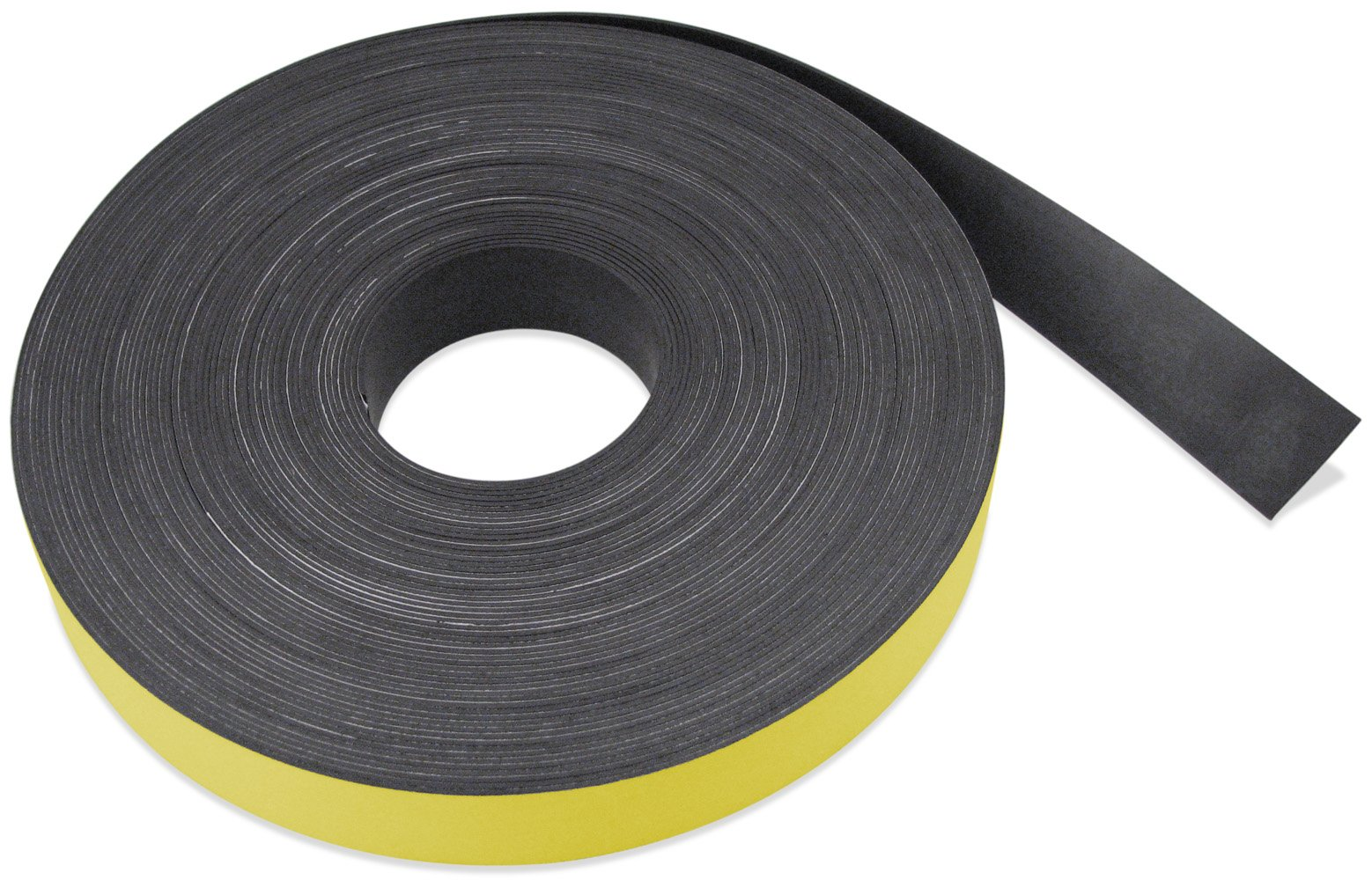 Flexible Magnet Strip with Yellow Vinyl Coating, 1/32'' Thick, 3'' Height, 50 Feet, 1 Roll