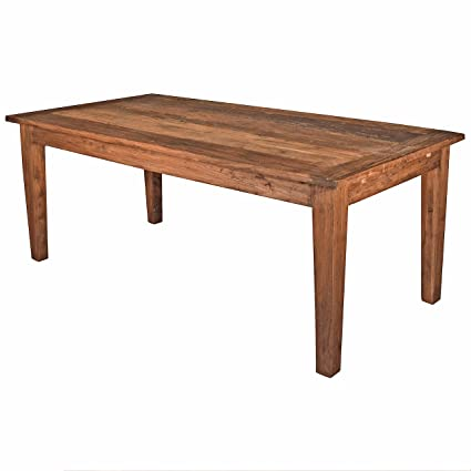 Image Unavailable Not Available For Color Kathy Kuo Home Brill Rustic Lodge Reclaimed Elm Wood Extendable Dining Table