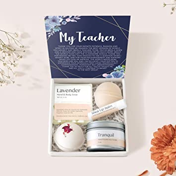 Gift for Teacher Appreciation Gift Personalized Teacher Gifts End of Year Gift Box Gift Basket Book Lover Teacher Assistant Gifts for Friend