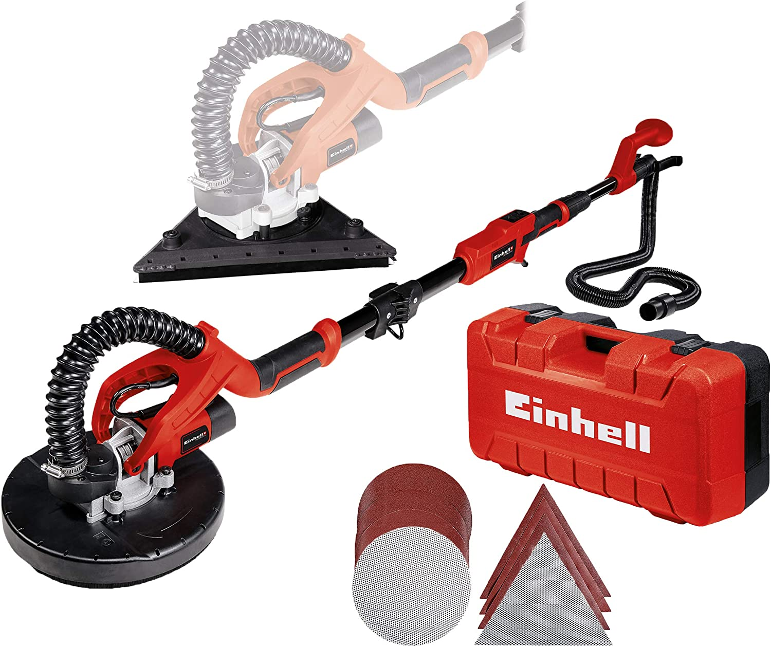 Einhell 4259960 Lijadora de pared, Rojo, Negro: Amazon.es ...