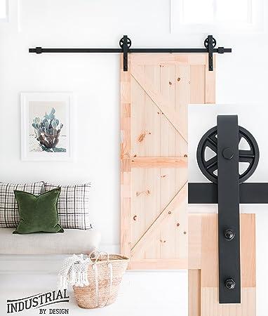 Amazoncom Industrial By Design 6ft 7in Big Wheel Sliding Barn