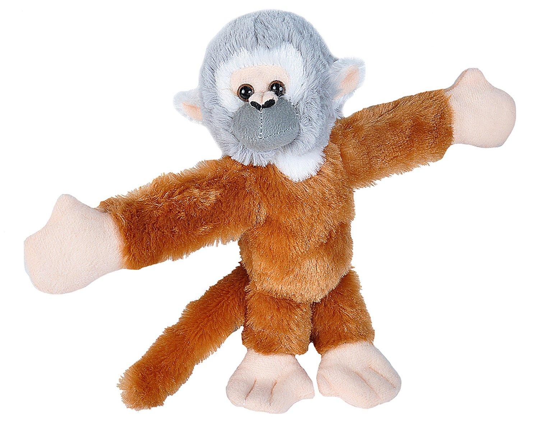 Amazon Com Wild Republic Huggers Squirrel Monkey Plush Slap