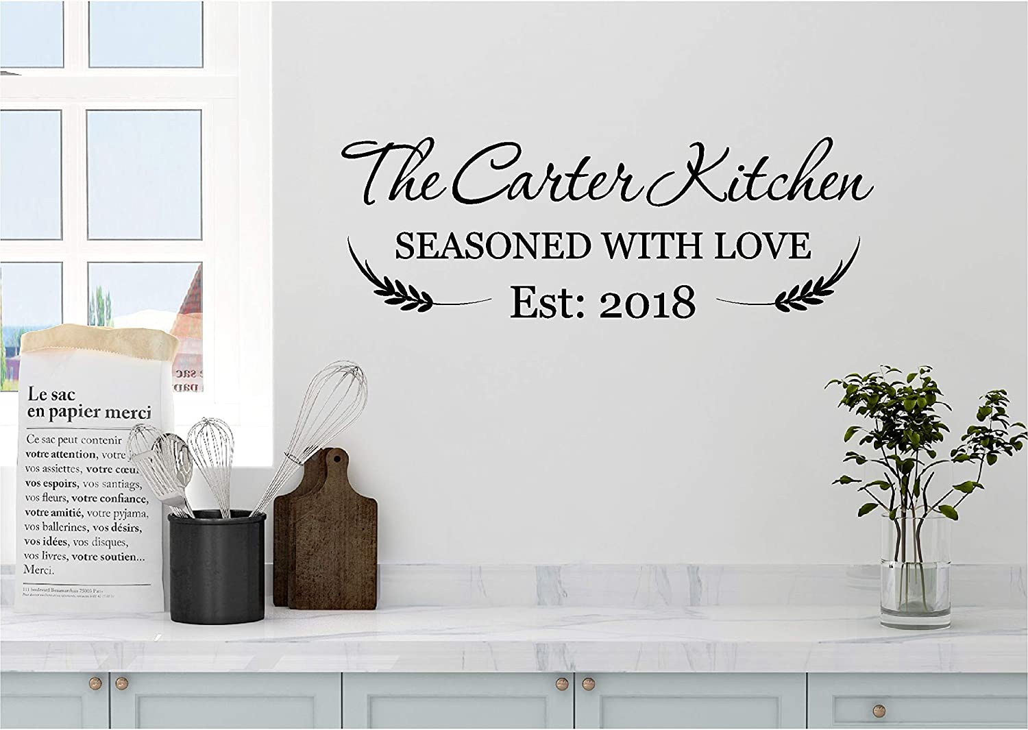 Amazon Com Personalized Custom Name Kitchen Wall Decal Sticker Customized Choose Size Color Vinyl Home Baking Cooking Meals Memories Are Made Here Family Handmade