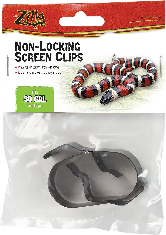 Zilla Reptile Terrarium Covers Non-Locking Screen Clips, 30G+, 2-Pack