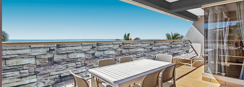 90 x 300 cm Telo Protettivo per Balcone Effetto Pietra Deco4Me