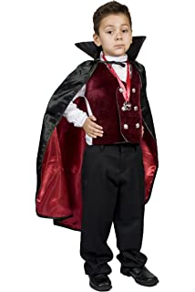 Amazon Com Monika Fashion World Boys Kids Vampire Halloween Costume Dracula Size M 6 7 8 9 Toys Games