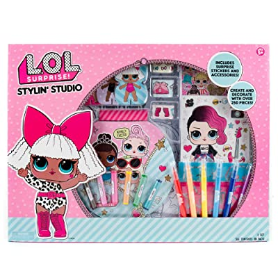 L.O.L. Surprise! Stylin' Studio by Horizon Group Usa, Decorate & Personalize LOL Surprise Paper Dolls, Includes DIY Activity Books, Scratch Art, Sticker Sheet, Coloring Pages, Markers, Crayons & More: Toys & Games