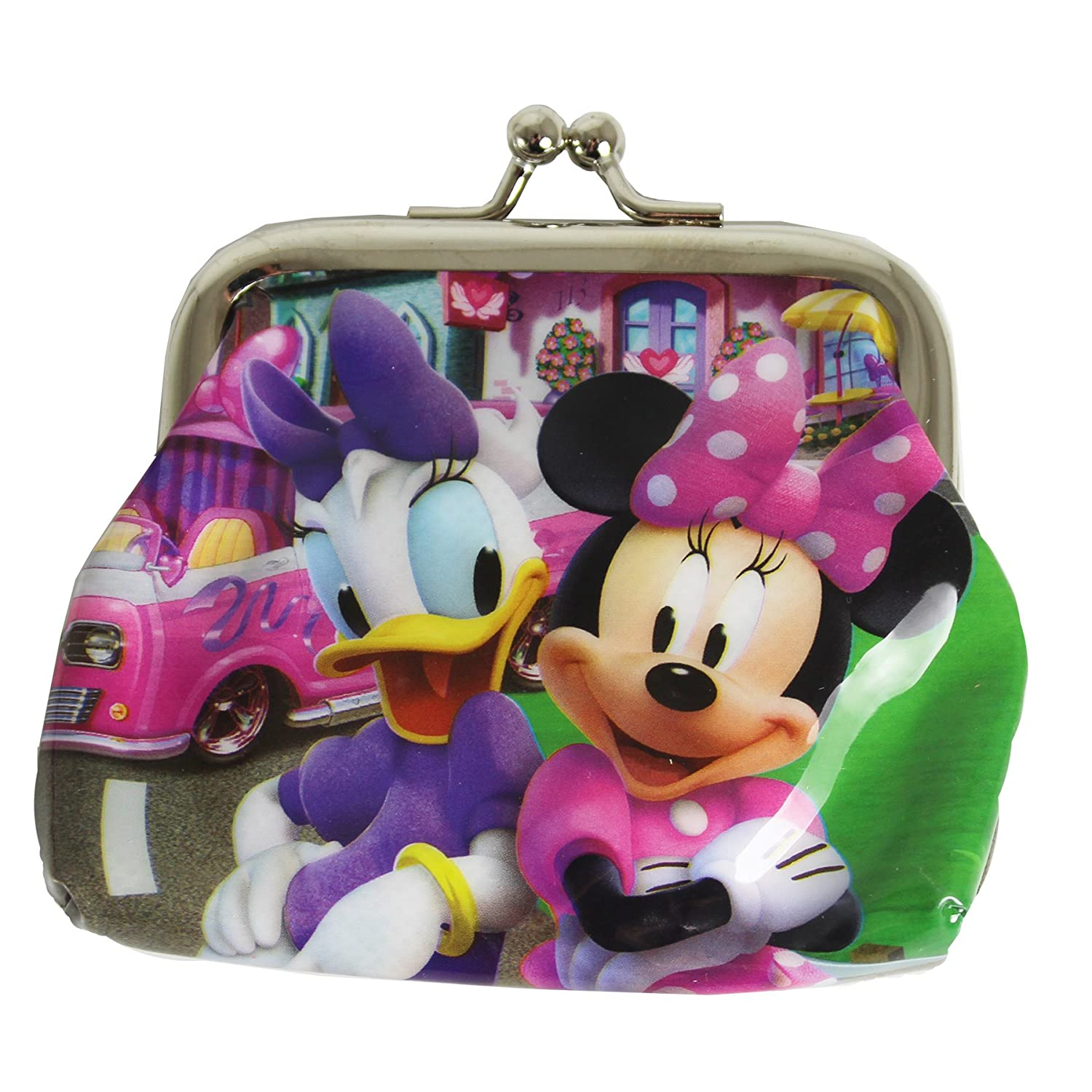 Minnie /& Daisy Children/'s Character PVC Metal Clasp Coin Purse