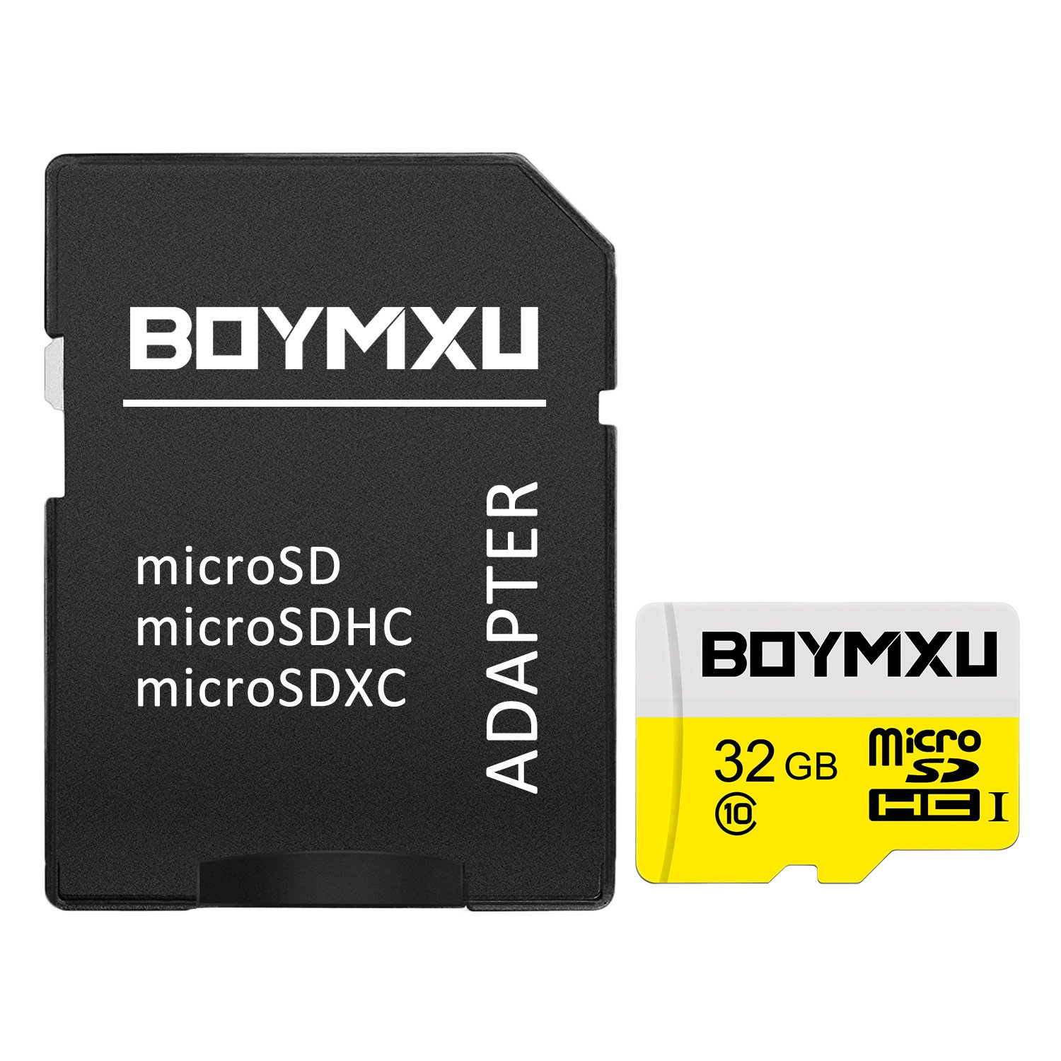 Micro SD Card 32GB,BOYMXU Memory Card with Adapter,High Speed TF Card SD Card for Samsung Tablet-YELLOW