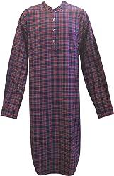 092013f262 Lee Valley Genuine Irish Flannel Purple Navy LV28 Tartan Nightshirt