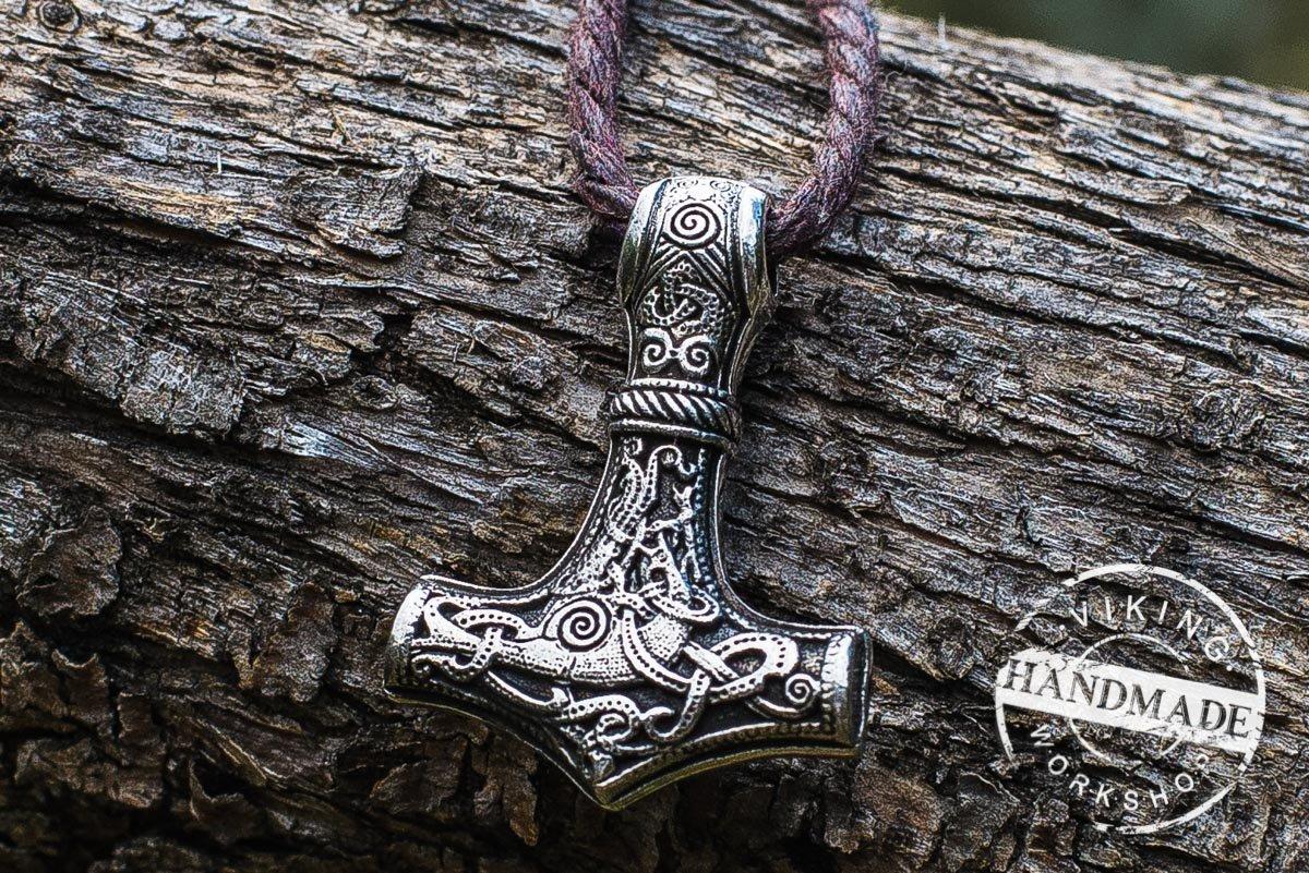 Thor's Hammer from Mammen Sterling Silver Mjolnir Pendant