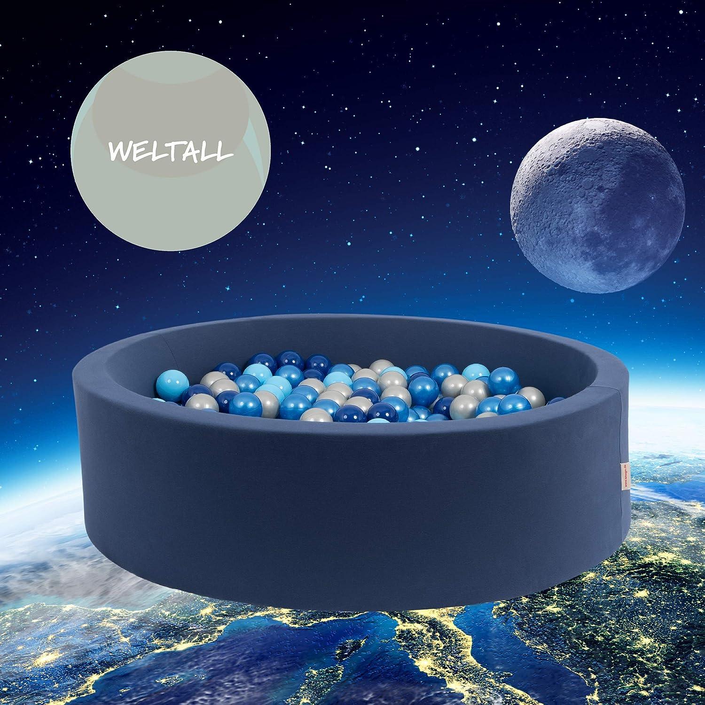 snugo Kinder Bällebad WELTALL in dunkelblau mit über 350 Bällen-Made in Germany/Augsburg