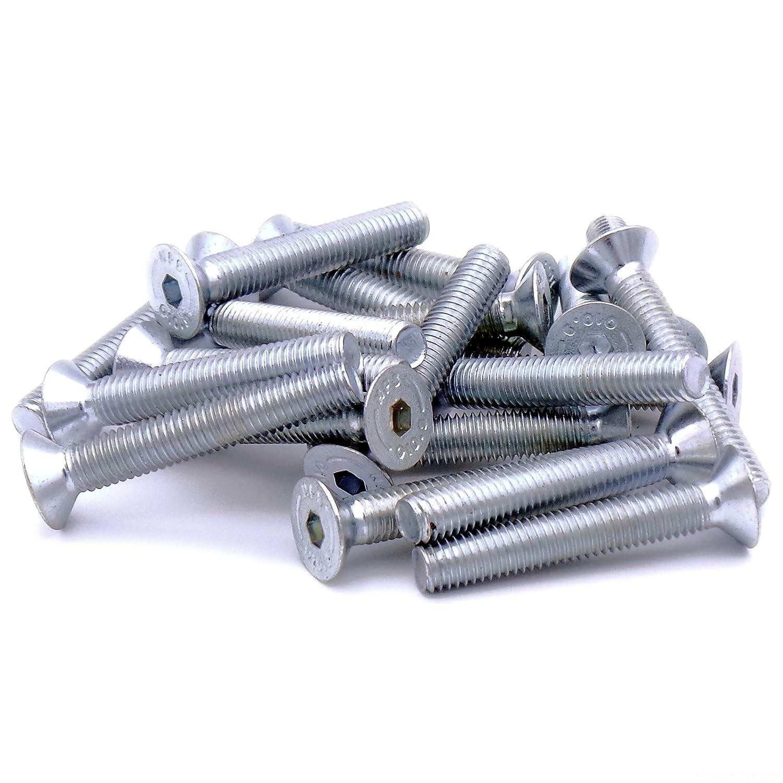 M8 x 50 mm (8 mm) hexagonal cabeza tornillo avellanado tornillos –  acero (Pack de 20) Singularity Supplies