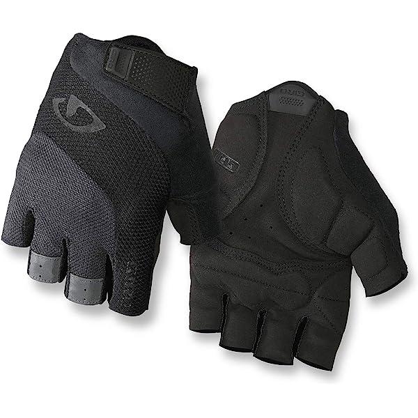 New Giro Men/'s SIV Gloves Cycling Bike Large Black White 4 MM Padding Fingerless