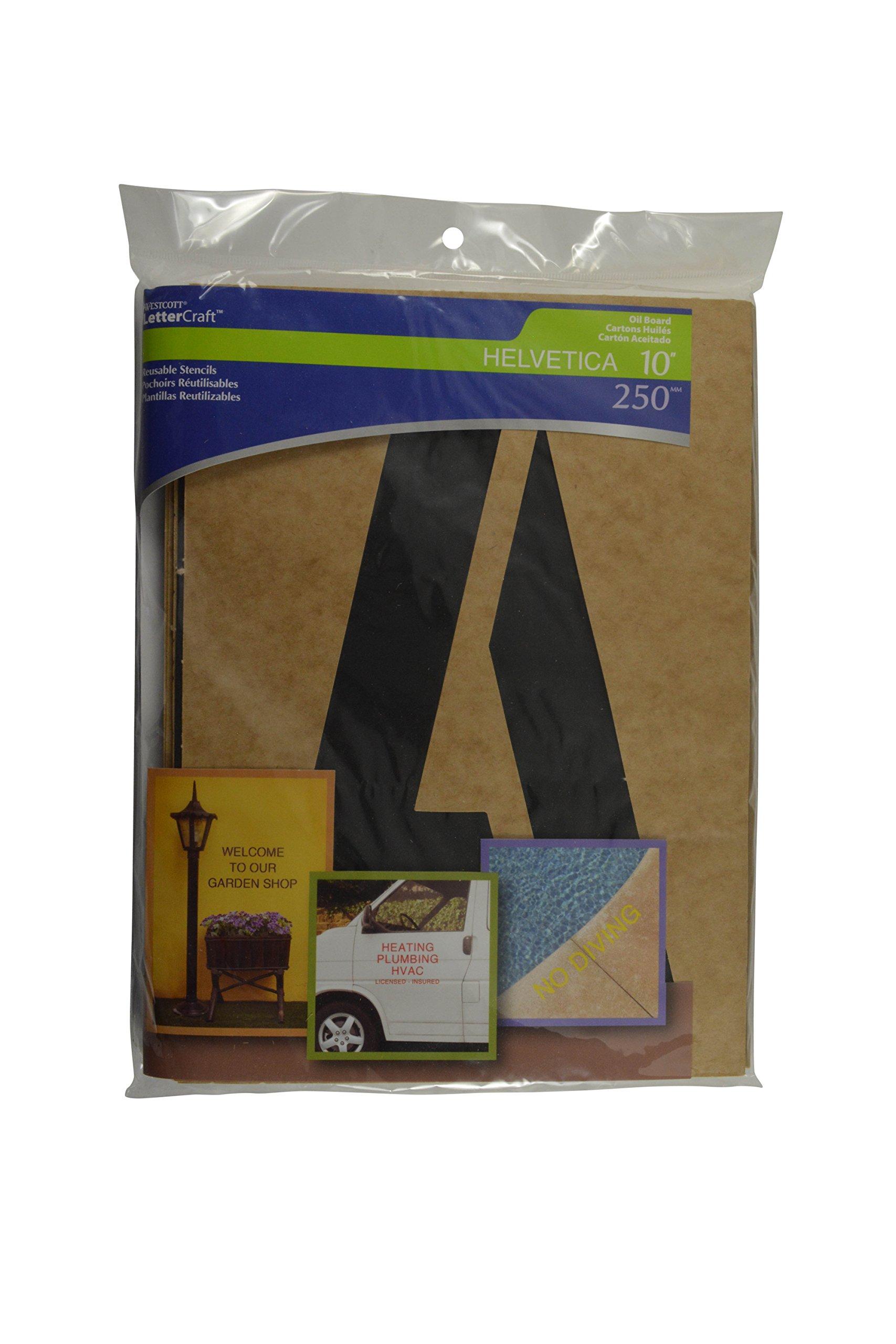 Westcott LetterCraft Oil Board Stencil Kit, 10-Inch Caps (OB-10/15828) by Westcott (Image #2)