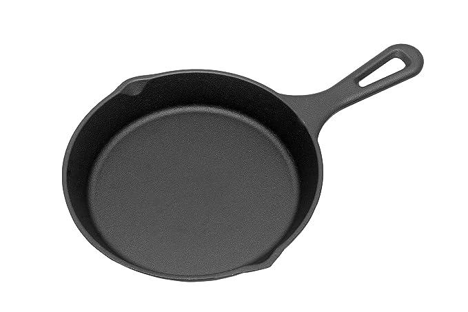Alpha Global Cast Iron 8-inch Skillet (Black) Pots & Pans at amazon
