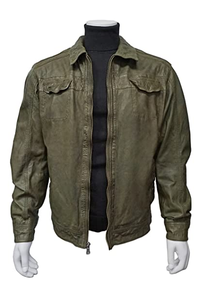 outlet store 14835 828fe Missani Le Collezioni 3904 Lambskin Leather Jacket (2X ...