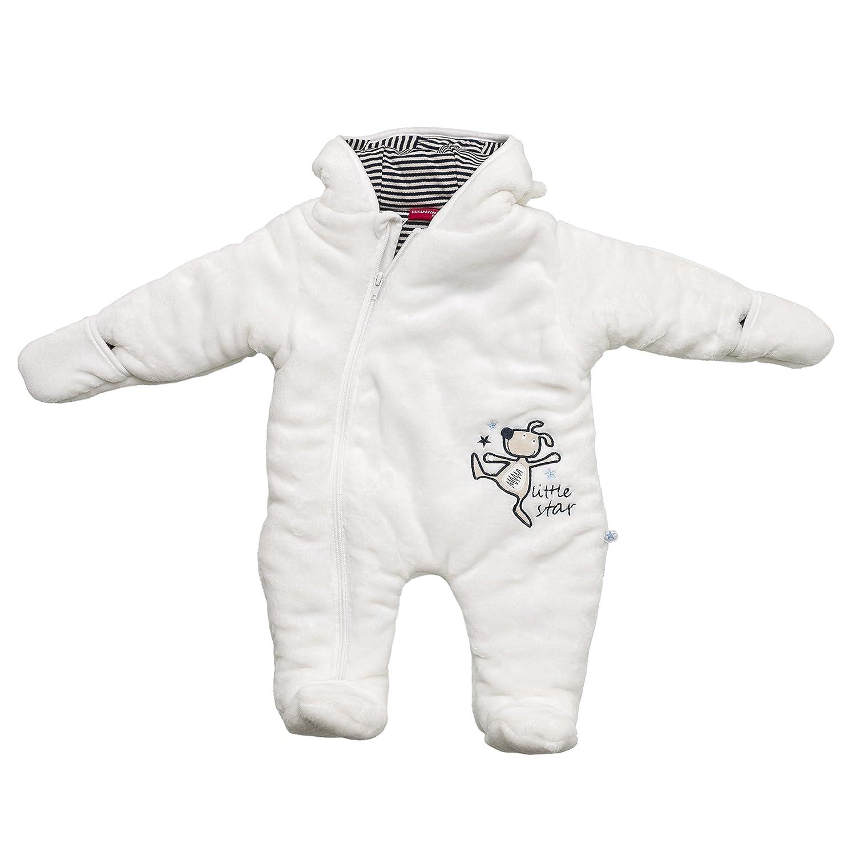 Salt & Pepper NB Jumpsuit Little Star, Combinaison de Ski Bébé Garçon Blanc-Weiß (Off-White 017) 9 Mois 65226109