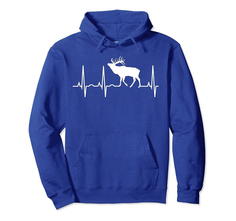Elk Hoodie – Best Elk Lover Heartbeat Gift Sweatshirt-Colonhue