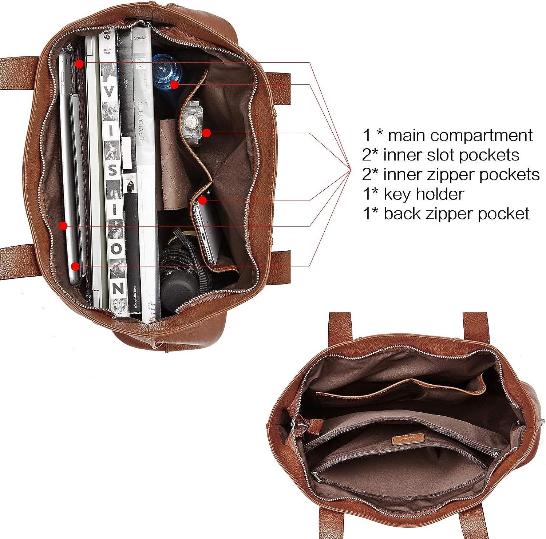 CLUCI Womens Handbags Soft Genuine Leather Designer Purse Large Fashion Ladies Shoulder Tote Bag