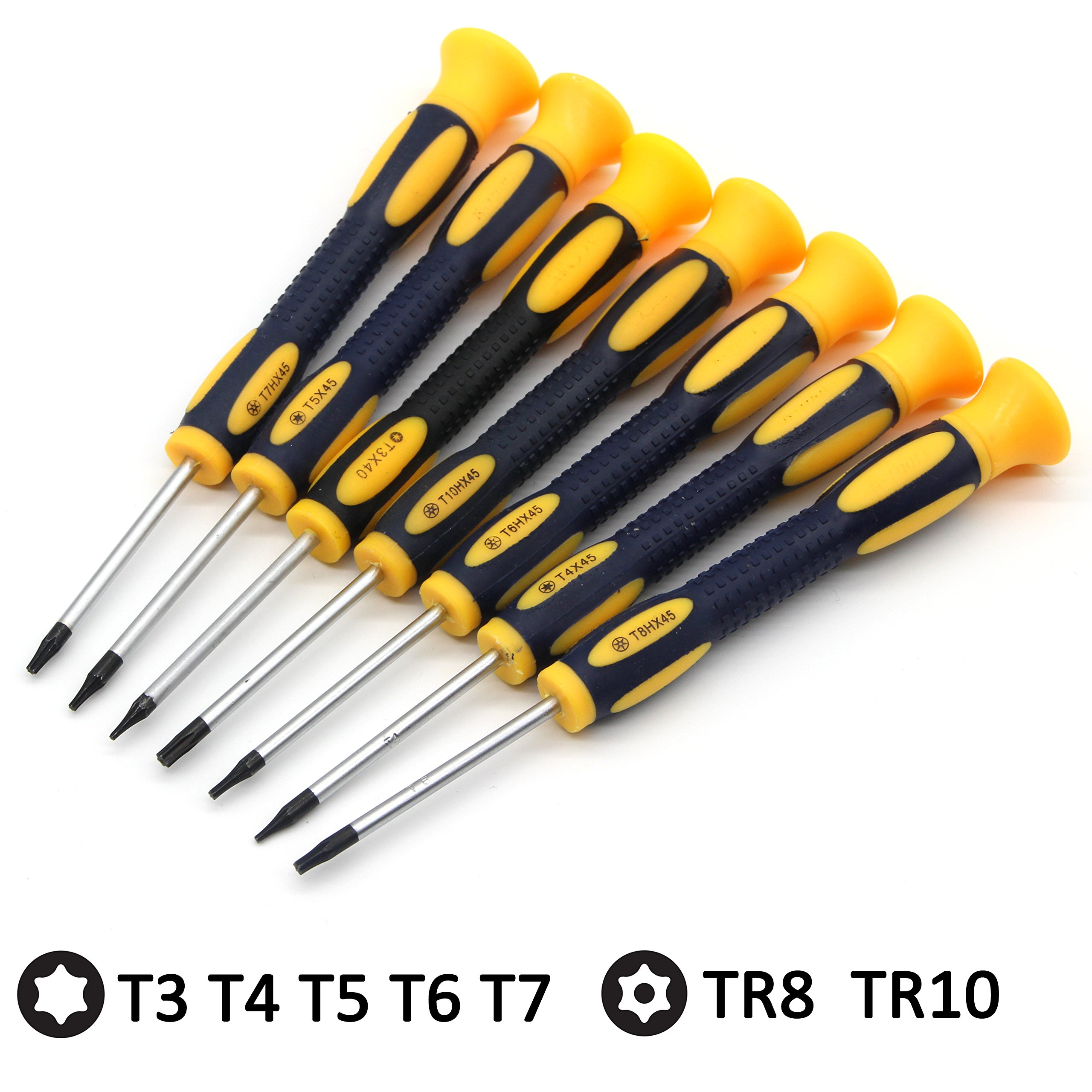Kingsdun 12 in 1 Torx Screwdriver Sets with T3 T4 T5 T6 T7 T8 T10 Star Screwdrivers, Stainless Steel Tweezers & Philip Slotted Magnetic Screwdrivers for Phone/Mac/Computer Repairing by Kingsdun (Image #4)