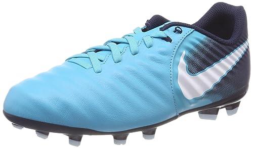 new product 071ec d6a1f NIKE TIEMPO LIGERA IV FG JUNIOR 897725-414 BLU - Scarpe da calcio ragazzo