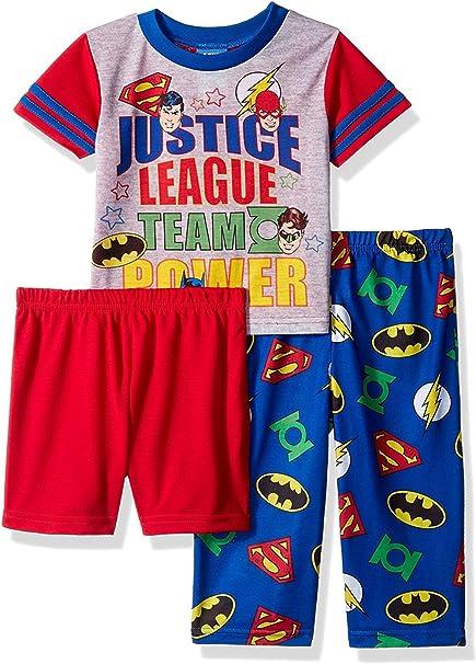 Justice League 3 Piece Sleepwear Pajama Set for Boys