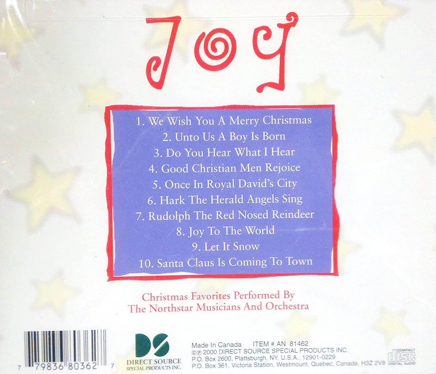 Joy Christmas Favorites Performed By The Northstar Orchestra: Amazon ...