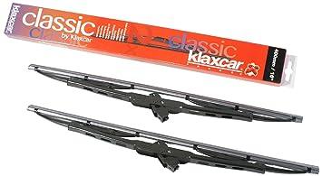 """Klaxcar 33665Z - Escobillas para el limpiaparabrisas (400 mm / 16"""", 2 unidades"""