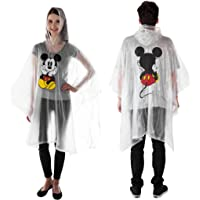 Disney Mickey & Minnie Mouse Rain Poncho Hoodie Front Back Print Adult or Youth
