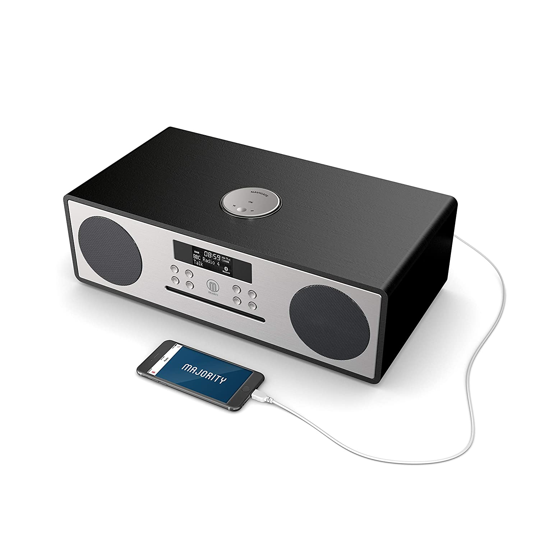 Oakington Plus Radio Digital Dab//Dab+//FM Bluetooth Sistema de Musica Plus Control Remoto AUX y USB MP3 Playing and USB Charging CD Player Reproductor 30W