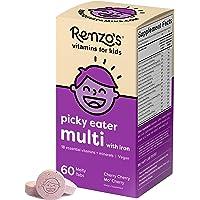 Renzo's Picky Eater Kids Multivitamin with Iron, Dissolvable Vegan Vitamins for Kids, Zero Sugar, Cherry Cherry Mo…